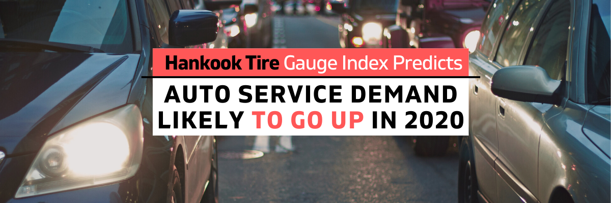 Hankook Tire Guage Index predicts auto service demand post-pandemic like to go up.