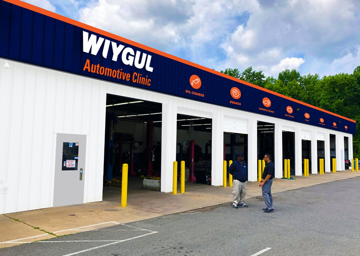 Wiygul Automotive Clinic's new logo now highlights both sides of their business that's tough to mistake for anything else but a tire & auto service provider.